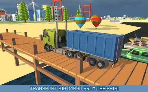 Blocky Truck Driver: Urban Transport 2.2 screenshots 7