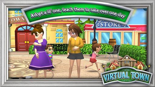 Virtual Town 0.7.14 com.bluebeck.vt apkmod.id 1