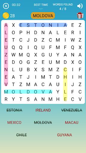 Word Search Game in English screenshots 4