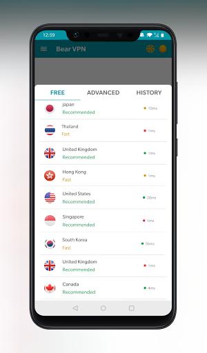 Bear VPN - Free & Unlimited VPN android2mod screenshots 2