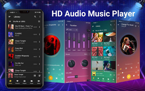 Music Player - Audio Player & Bass Booster android2mod screenshots 1