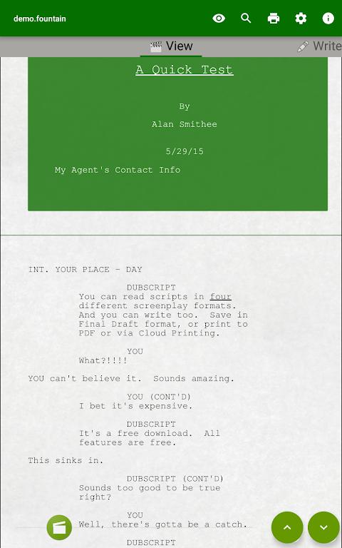 DubScript Screenplay Writer  poster 10
