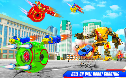 Flying Helicopter Car Ball Transform Robot Games android2mod screenshots 6