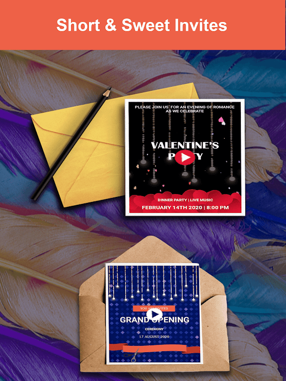 Video Invitation Maker - Create eCards  poster 1