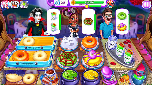 Halloween Madness : Cooking Games Food Fever apkslow screenshots 1
