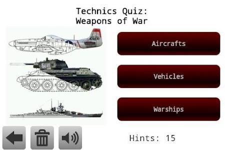 Technics Quiz: Weapons of War 1.06