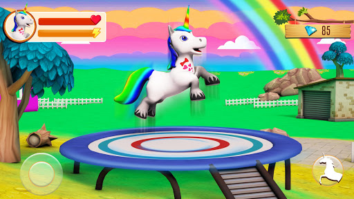 Baby Unicorn Wild Life: Pony Horse Simulator Games screenshots 1
