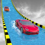 Water Slide Extreme Car Racing Stunts
