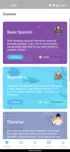 EWA: Learn English & Spanish Language android2mod screenshots 8