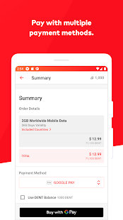 DENT: eSIM data plans & data top-up for all phones Screenshot