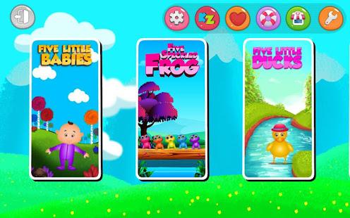 Kids Top Nursery Rhymes Videos - Offline Learning FiveLittle_v7.1 Screenshots 4
