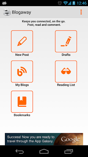 blogaway for android (blogger) screenshot 1