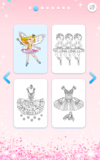 Ballerina Coloring Book Glitter - Girl Games apkpoly screenshots 9