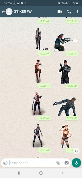 Imágen 14 de Sticker WA Free Fire FF Emote 2021 WAStickerApps para android