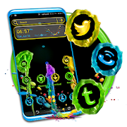 Colorful Melted Wax Theme Launcher