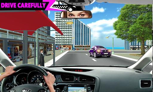 New York Taxi Duty Driver: Pink Taxi Games 2018  screenshots 7