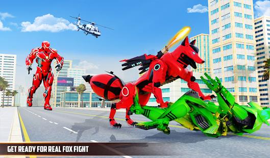 Wild Fox Transform Bike Robot Shooting: Robot Game 24 screenshots 9