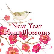 Beautiful Wallpaper New Year Plum Blossoms Theme