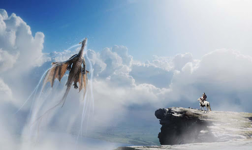 Fire Flying Dragon Simulator Warrior Sky Rider 3D  screenshots 5