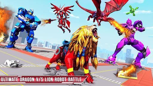 Royal Lion Robot Games- Dragon Robot Transform War  screenshots 18