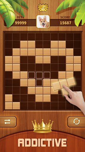 Woody Block Puzzle 99 - Free Block Puzzle Game android2mod screenshots 1