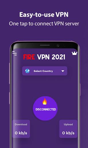 Fire VPN 2021 - Free VPN Proxy & Fast VPN Browser apktram screenshots 1