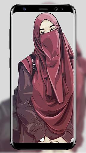 Hijab Cartoon Wallpaper