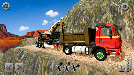 Sand Excavator Truck Driving Rescue Simulator game screenshots 13