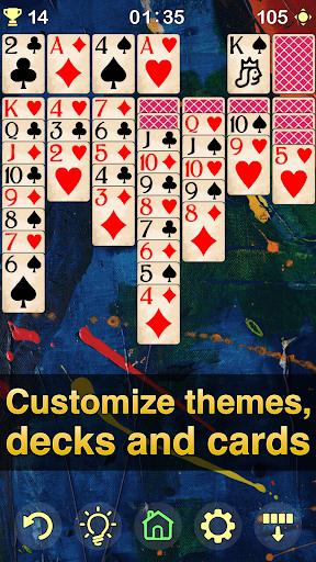 Solitaire Klondike - classic offline card game Apkfinish screenshots 5