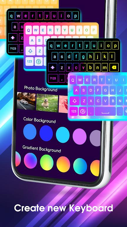 Neon LED Keyboard - RGB Lighting Colors poster 11