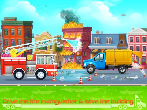 Kids Truck Games: Car Wash & Road Adventure android2mod screenshots 5