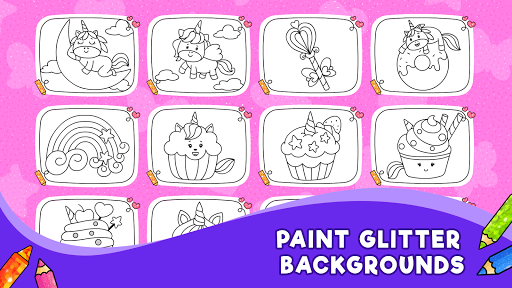 Unicorn Glitter Coloring Book: Coloring Unicornud83eudd84 4.0.3 screenshots 3