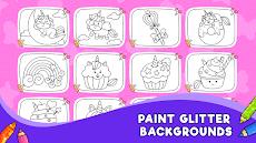 Unicorn Glitter Coloring Book: Coloring Unicornのおすすめ画像3