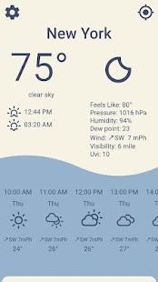 Weather Forecast with clock widget