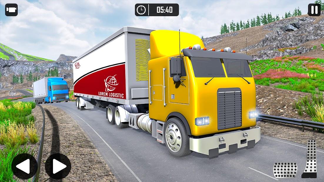 محاكاة شاحنة نقل البضائع: لعبة قيادة الشاحنة