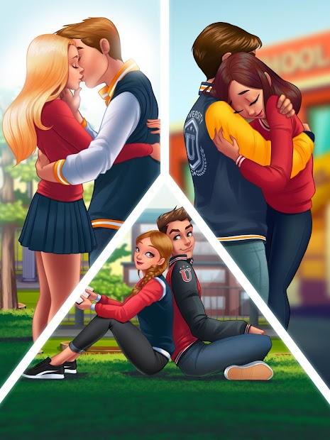 Captura de Pantalla 10 de High School Historias De Amor: Juego Virtual para android
