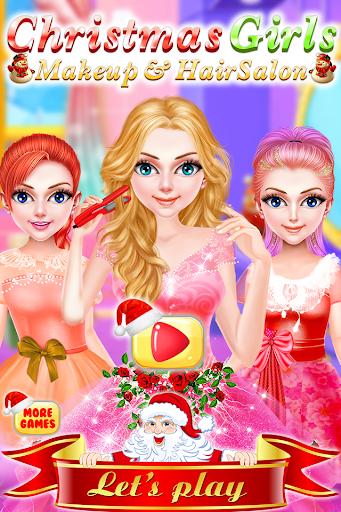 Christmas Girls Makeup & Hair Salon DressUp Games 1.0.18 screenshots 1