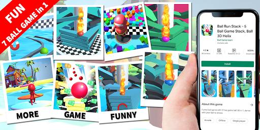 Ball Run Stack - 8 Ball Game Stack Ball 3D Helix 36 screenshots 4