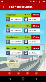 MMTS Train Timings Screenshot