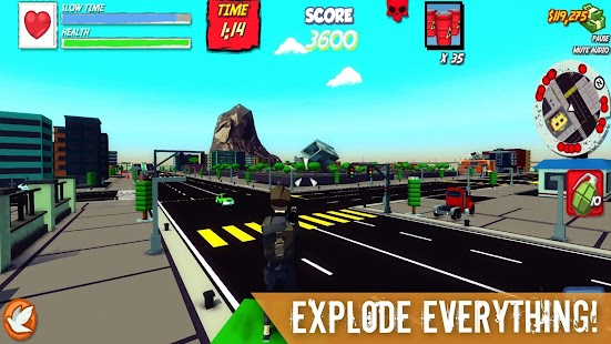 Poly City - Vengeance: Third person shooter - TPS Screenshot