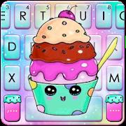 Colorful Galaxy Cupcake Keyboard Theme