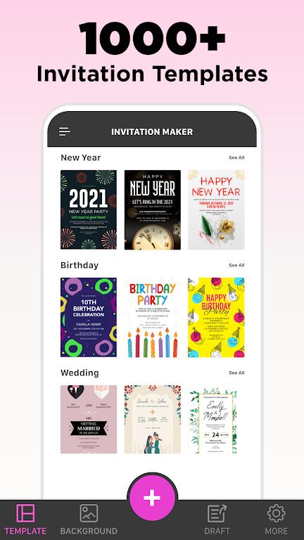 Invitation Maker - Birthday & Wedding Card Design poster 1