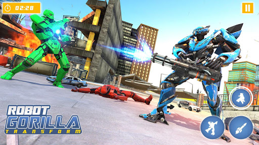 Gorilla Robot Car Games- Transform War Robot Games 3.0 screenshots 4
