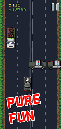 8Bit Highway: Retro Arcade Endless Racing  screenshots 2