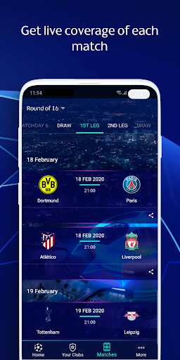 UEFA Champions League football: live scores & news 2.90.4 Screenshots 3