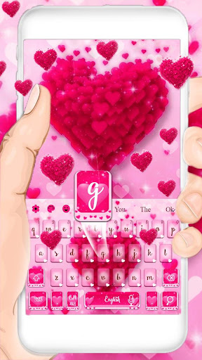 love heart keyboard theme screenshot 3