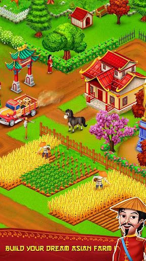 Asian Town Farm : Offline Village Farming Game APK MOD – Pièces de Monnaie Illimitées (Astuce) screenshots hack proof 1