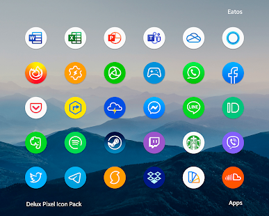 Delux - Round Icon pack Screenshot
