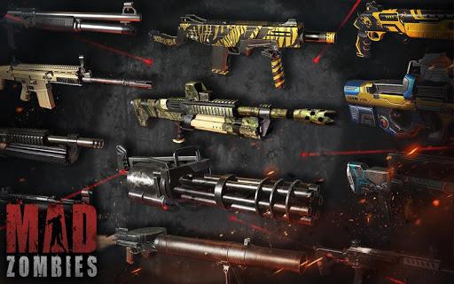 Code Triche MAD ZOMBIES : Jeux de Zombie  APK MOD (Astuce) screenshots 1