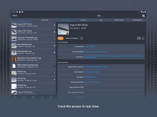 Autodesk Vault Mobile screenshots 12